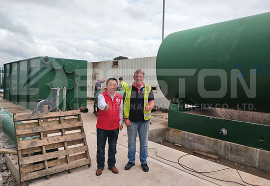 Tyre Recycling Plant in the UK