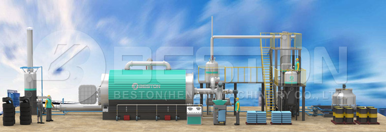 Beston Tyre Pyrolysis Plant for Sale